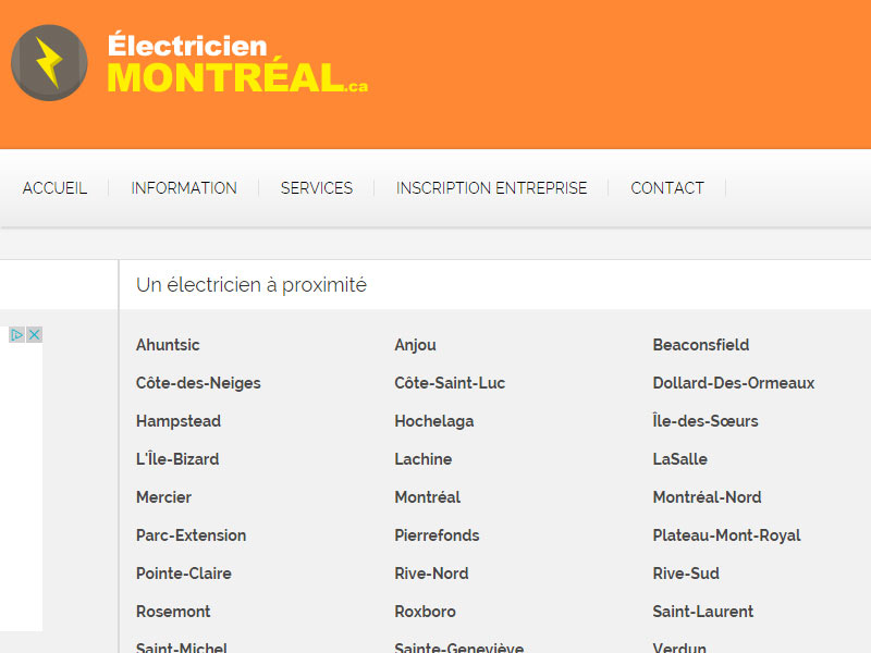 electricien information