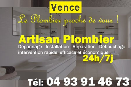 plombier vence