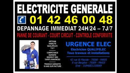 electricien 14eme