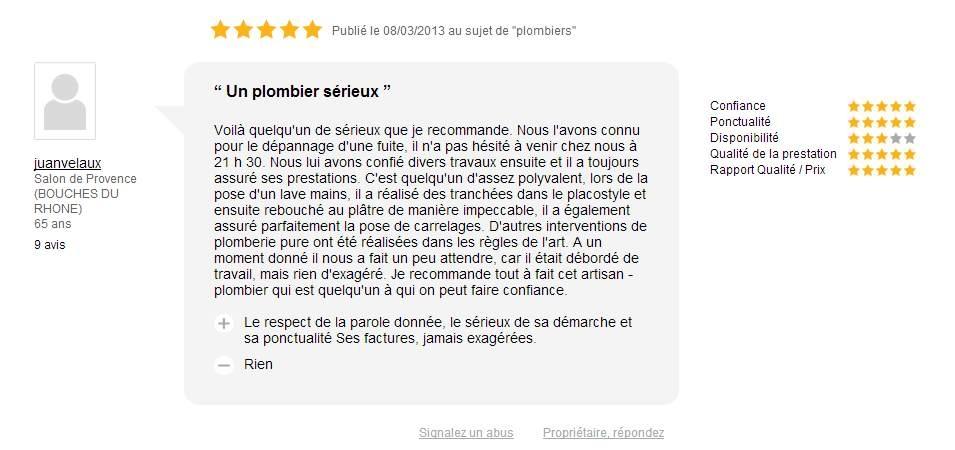 plombier chauffagiste salon de provence