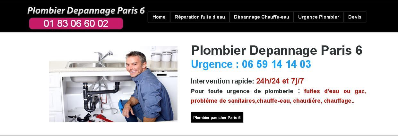 plombier urgent paris